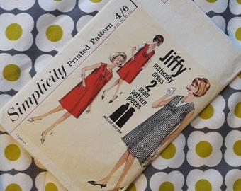 Simplicity - Jiffy Dress Vintage Pattern - Maternity Dress