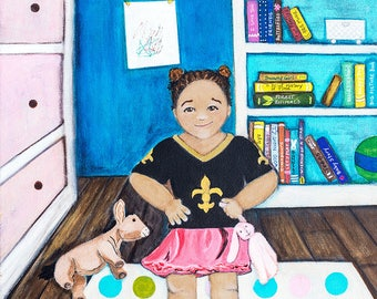 Hey! So, I'm a Baby. An assertive little girl. An original Painting.