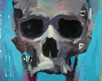 CALAVERA No.01 painting on wood panel