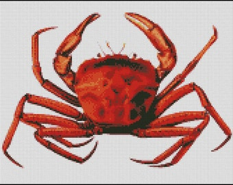 VINTAGE CRAB cross stitch pattern No.385
