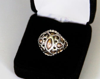 Carolyn Pollack Relios Sterling Statement mixed metal ring size 7