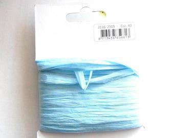25 meters of Ribbon of RAFFIA - sky blue color - REF. 40