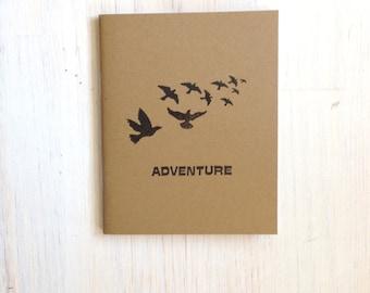 Medium Notebook: Birds, Inspiration, Adventure, Brown, Journal, Blank, Unlined, Unique, Gift, Small, Notebook, Travel, Wedding, KR419/378