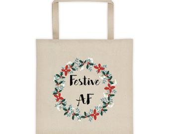Festive AF Holiday Tote bag