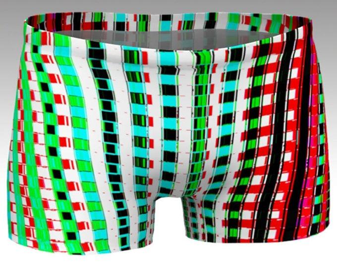 Gingham on Steroids Yoga Shorts, Boy Shorts, Multicolored Stripes, Women's Shorts, Yoga Shorts, Swim Shorts, Athletic Shorts, Running Shorts