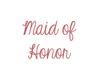 Maid of Honor Vinyl Iron-On Decal~ Glitter Iron-On Vinyl Decal~ Iron-On Vinyl Decal
