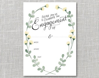 Engagement Party Invitation Printable Instant Download PDF