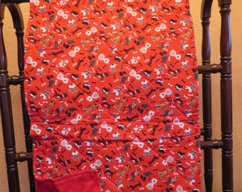 Dog Quilt in Red