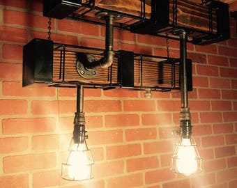 Vintage Rustic Industrial Light fixture