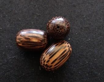 Vintage Wood Barrel Beads