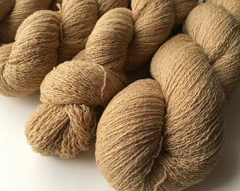 Reclaimed Lace Yarn - Washable Wool - Camel