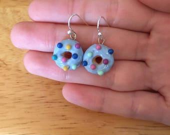 Blueberry Forster sprinkle donut earings
