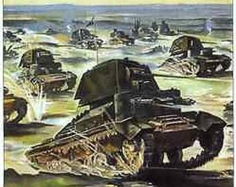 World War 2 British Military Poster A3 / A2 Print