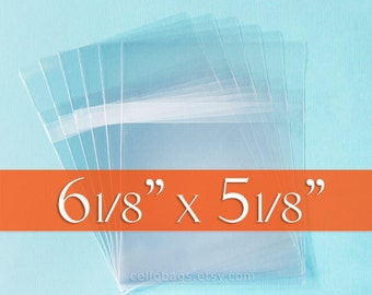 500 Cello Bags, 6 1/8 x 5 1/8 CD Jewel Case Sized Clear Packaging, 1.6 mils thick with Self Stick Protective Closure