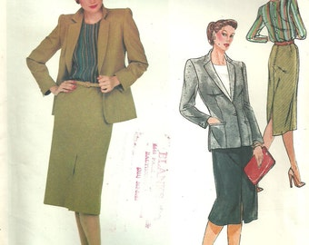 Vogue 2405 / Paris Original / Vintage Designer Sewing Pattern by Christian Dior / Blouse Jacket Skirt Suit / Size 14 Bust 36