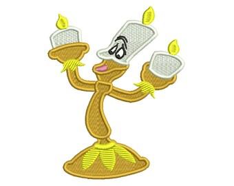 LUMIERE, Kerzenständer * Maschinenstickerei * sofortiger digitaler Download