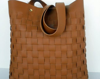 Brown Leather Tote Bag - Camel Brown Leather Bag - Brown  Leather Bag- Leather Tote- leather tote,Brown leather tote
