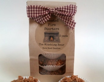 Fire Starters // Scented or Unscented // 3 pack