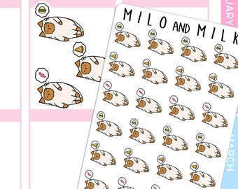 Dreaming of Junk Food Cat  | Planner Stickers |