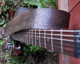 Inspire Straps - Printed Background Custom Leather Guitar Straps