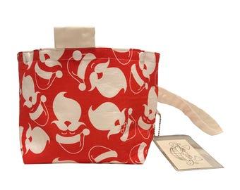 Red Santa Project Bag Bucket Bag size medium