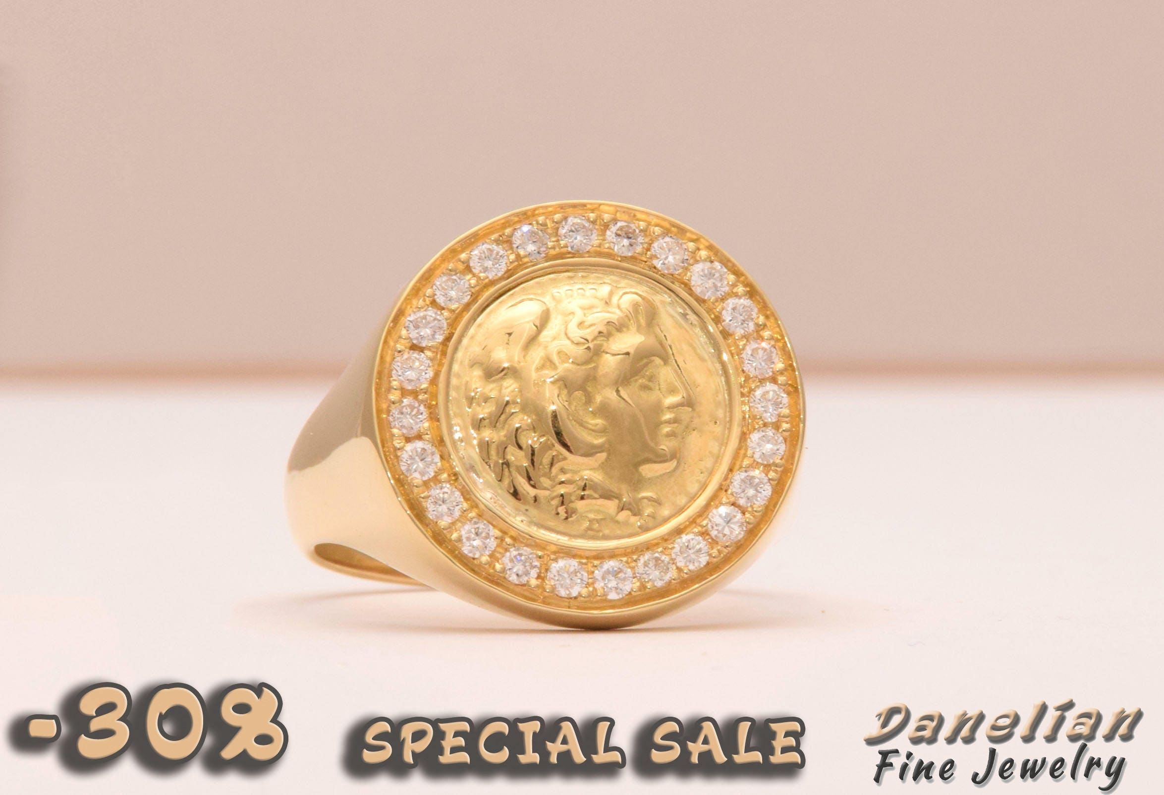 rings king george set coin full yellow ring v gold shouldered product patterned sovereign