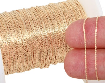 1 FT 0.6 mm 14K Gold Filled Snake Chain (GF656) Price Per Foot