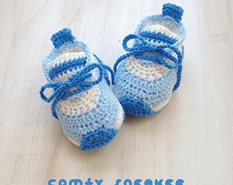 "Crochet Preemie Pattern Comfy Preemie Sneakers Crochet 18 inch Doll Shoes 18"" Doll Shoe Size Crochet Booties Crochet Pattern Newborn Shoes"