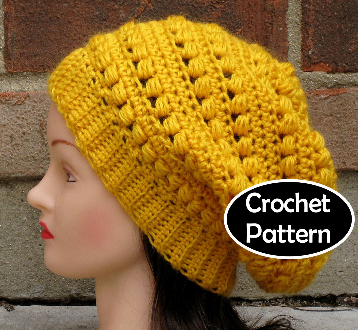 Crochet hat pattern instant download aimee slouchy beanie zoom bankloansurffo Image collections