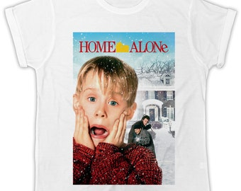 Home Alone movie poster t-shirt birthday present ideal gift cool retro t-shirt
