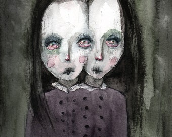 The Twins (print of my original painting)