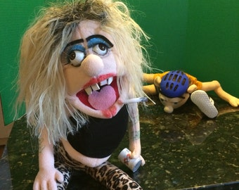 Jeffy's mom puppet made for sml youtube chanel