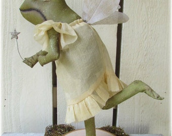 Fairy Frog Mother, A Primitive Folk Art Doll Pattern~NEW~