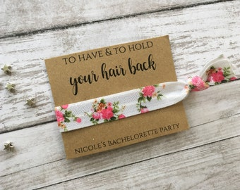 Hair Ties, Bachelorette Party Favors , To Have & To Hold Your Hair Back, Bachelorette Party, Elastic Hair Tie, Bulk Hair Ties, Bridesmaid