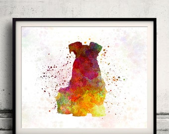 Schnauzer 02 in watercolor - Fine Art Print Poster Decor Home Watercolor Illustration Dog - SKU 1719