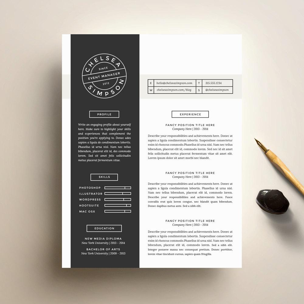 Kreative Lebenslauf Vorlage und Anschreiben Vorlage für Word