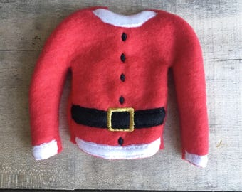 "Elf sweater/holiday elf sweater/12"" doll sweater/doll clothing/elf sweatshirt/elf clothing/elf costume/elf Santa suit"