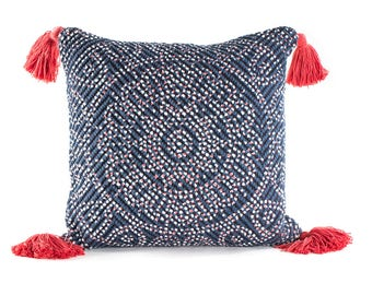 Annecy Hand Woven Printed Cushion