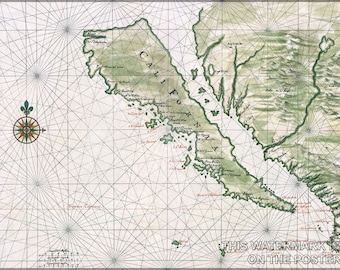 Poster, Many Sizes Available; California Island Map Of California As An Island C1650 By Johannes Vingboons