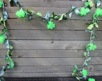 St. Patrick's Day Lighted Garland St. Patty's Day Decor St. Patrick's Day Lighted Fabric Garland Shamrock Lighted Garland Shamrock Lights