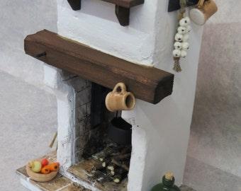 DollHouse Miniature Fire - Tudor / Medieval / Cottage