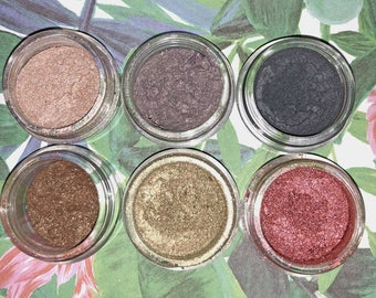 Tropical Pearl Pigments- Handmade Cosmetics-NEW- Highlighter- Eyeshadow- Loose Pigments- 6 Pack