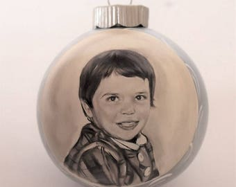 Vintage portraits ornaments - custom portrait paintings vintage style from old photos