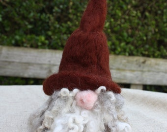 Tomte, bottle topper, needle felt Tomte, gnome bottle topper, felt gnome, fantasy felts, wine bottle topper, unique gift