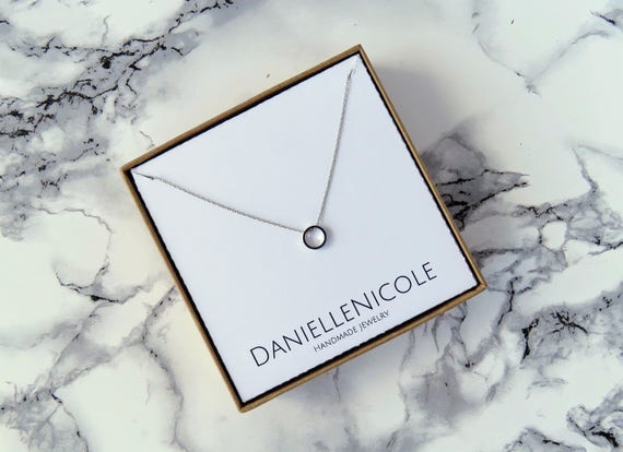 Dainty Circle Necklace, Pendant Necklace, Dainty Necklace, Dainty Jewelry, Simple Necklace, Everyday Jewelry, Layering Jewelry