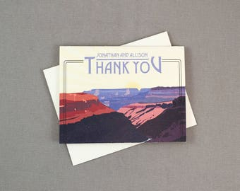 Grand Canyon Arizonia Broadfold Wedding Thank You Cards with A2 Envelopes