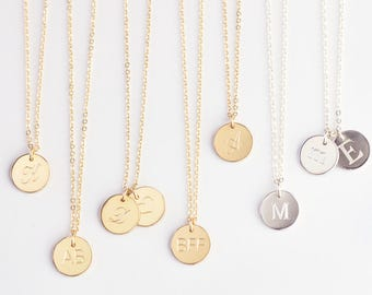 Letter J Necklace, Gold C Necklace, Letter M Necklace, Silver R Necklace L Necklace Letter H Necklace A B Necklace E F H O Q S T U Necklace