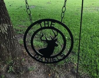 Monogram Deer Garden Flag