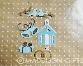 Wedding Scrapbook Embellishments Card Making Toppers Engagement  Paper Craft Supplies