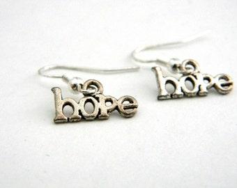 Hope Earrings Silver Color Dangle Earrings